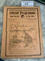1923/24 Tottenham v West Brom Football Programme: Very good condition 4 page league match with no