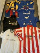Replica Football Shirt Selection: Adult sizes in good condition. Includes Rangers Celtic and Man
