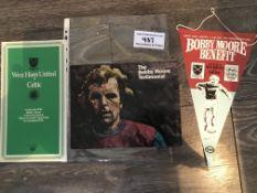 Bobby Moore West Ham Football Testimonial Items: For the Bobby Moore testimonial match v Celtic we