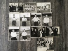 1950s Football Press Photos: Includes Hill Bentley Haynes Langley of Fulham, Wolves team group,