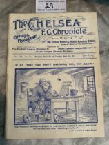 1910/1911 Chelsea v West Brom Football Programme: Ex bound in excellent condition with no team