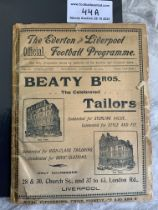 1904/1905 Liverpool v West Brom Football Programme: Ex bound in poor/fair condition with no team