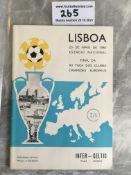 1967 European Cup Final Football Programme: Inter Milan v Celtic the famous Lisbon Lions match.