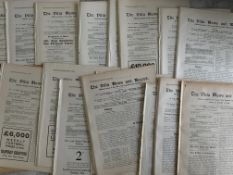 Aston Villa Pre War Home Football Programmes: From 1919/1920 onwards to include 1st team league