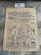 1920/21 Chelsea v West Brom Football Programme: Good condition with no team changes. Folding and