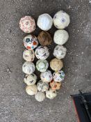 20 x Signed Footballs: Includes Blackburn Peterborough Ipswich West Ham Walsall Colchester Celtic
