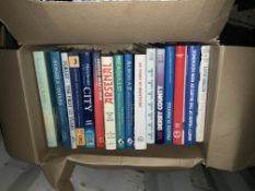 Football History Books: Large often A4 history books many made by Breedon. Quantity in 2 boxes.