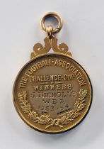 1954 West Brom FA Cup Winners Football Medal: Awarded to Johnny Nicholls. Reverse is engraved J