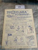 1923/24 Chelsea v West Brom Football Programme: Ex bound in excellent condition with no team
