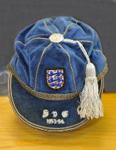 1954 England Full International Football Cap v Scotland: Awarded to Johnny Nicholls of West Brom.