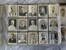 Pinnace Football Card Collection: 87 Pinnace cards with the book listing and photographing each