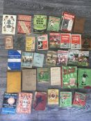 Old Football Books + Annuals: 8 Sunday Chronicle Albums from 46/47 to 55/56, Athletic News 30/31,
