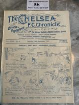 1927/28 Chelsea v West Brom Football Programme: Ex bound in excellent condition with no team