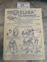 1922/23 Chelsea v West Brom Football Programme: Ex bound in excellent condition with no team