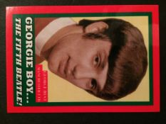 George Best Jim Hossack Trade Card: Georgie Boy The Fifth Beatle. Red border number 12 of only 12