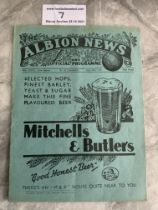 35/36 West Brom v Arsenal Football Programme: Good condition league match dated 13 4 1936 with no