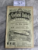 1914/1915 Sheffield United v West Brom Football Programme: Ex bound in excellent condition with no