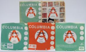 Promo / Demo - 42 singles on white and red/white Columbia