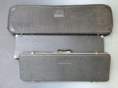Three shotgun or rifle carry cases, largest 96 x 28 x 11cm.