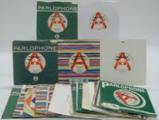 Promo / Demo - 26 singles on white/red and white Parlophone