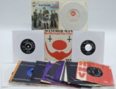 Manfred Mann - 27 singles including Ha! Ha! Said The Clown in picture cover (TF812)