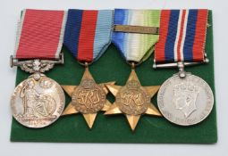 WW1 British Empire Medal group of four for William Taylor Motorman, comprising British Empire