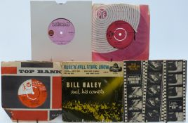 Approximately 300 singles including Bill Haley, Gary Lewis, Ron Goodwin, Dave Brubeck, Freddie