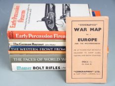Seven military / firearm / bayonet related books, including Mauser bolt rifles by Ludwig Olson,