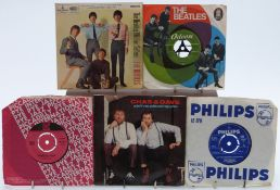 Approximately 150 singles including The Beatles, The Rolling Stones and Buddy Holly