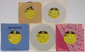 Promo / Demo - Approximately 50 singles on yellow and black Pye, mostly late 1960s and early 1970s