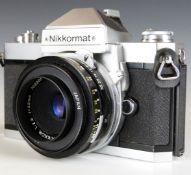 Nikon Nikkormat FT2 SLR camera with 45mm 1:2.8 lens