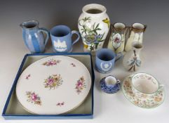 A collection ofceramics including Winchcombe Pottery salt pig, jug and further studio pottery,