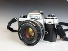 Nikon FE2 SLR camera with 50mm 1:1.8 lens