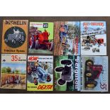 Eight tractor interest metal advertising signs to include Fordson Dexta, Allis Chalmers, David Brown