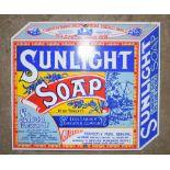 Enamel advertising sign 'Sunlight Soap', 21.5 x 25cm