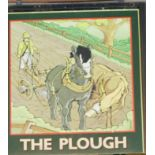 The Plough double sided pub sign