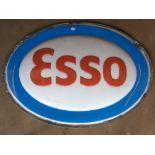 Large Esso advertising sign for illuminated use, maximum diameter 183cm