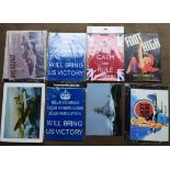 Eight fishing/ shooting interest metal advertising signs to include Hardy Brothers, Martin &