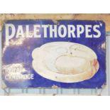 Vintage enamel advertising sign 'Palethorpes' Royal Cambridge Sausages', 61 x 91cm