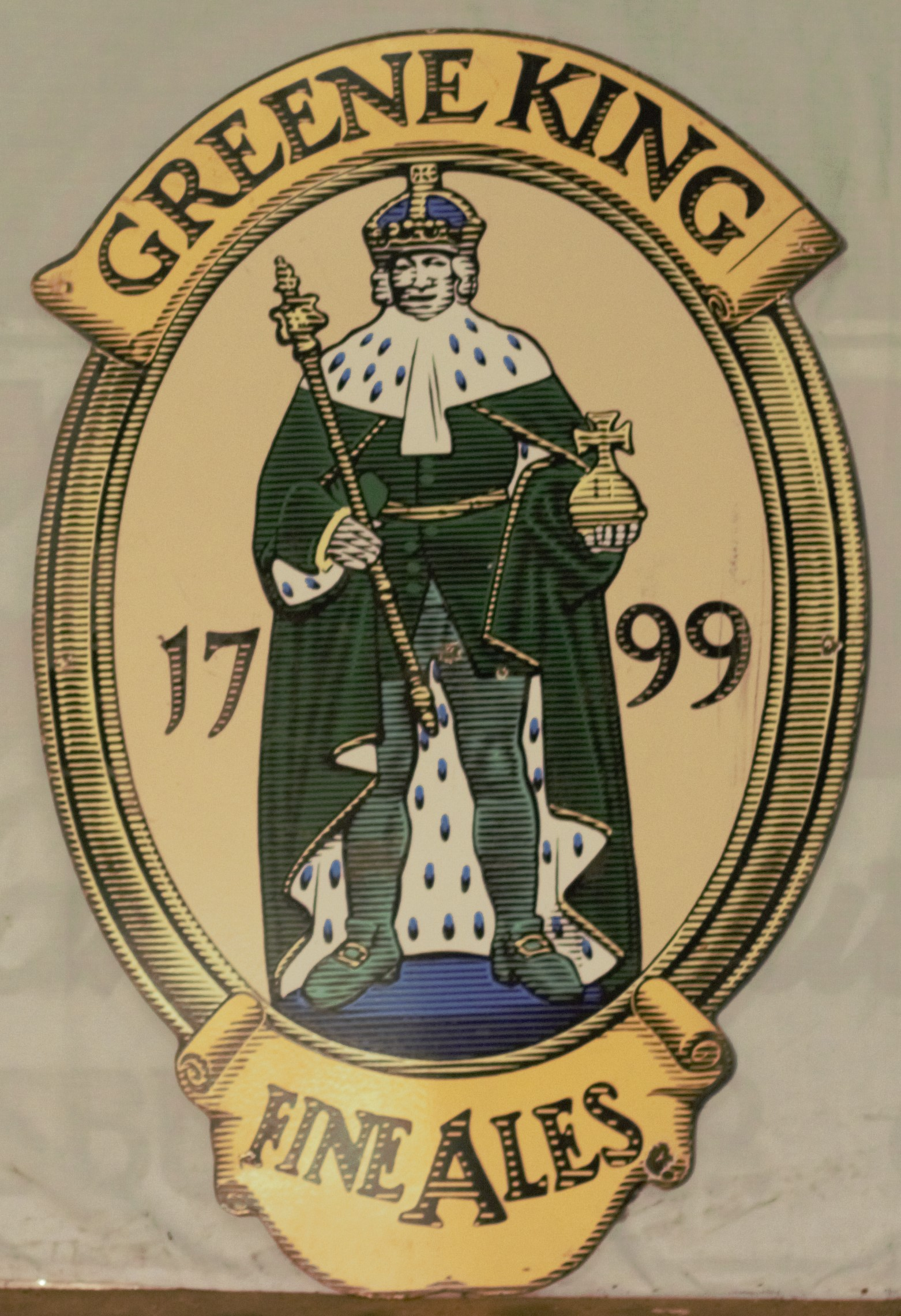Two pub signs comprising Huntsman Ales & Greene King, largest 120 x 111cm - Image 3 of 3