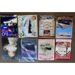 Eight shipping related metal advertising signs to include Titanic, White Star Line Cunard etc,