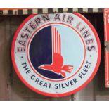 Metal advertising sign 'Eastern Air Lines', diameter 59cm