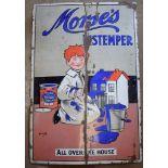 Vintage enamel advertising sign 'Morse's Distemper', 152 x 102cm
