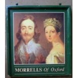 Morrells of Oxford double sided hanging pub sign, 110 x 95cm