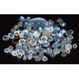A collection of loose moonstone cabochons, 20.7g