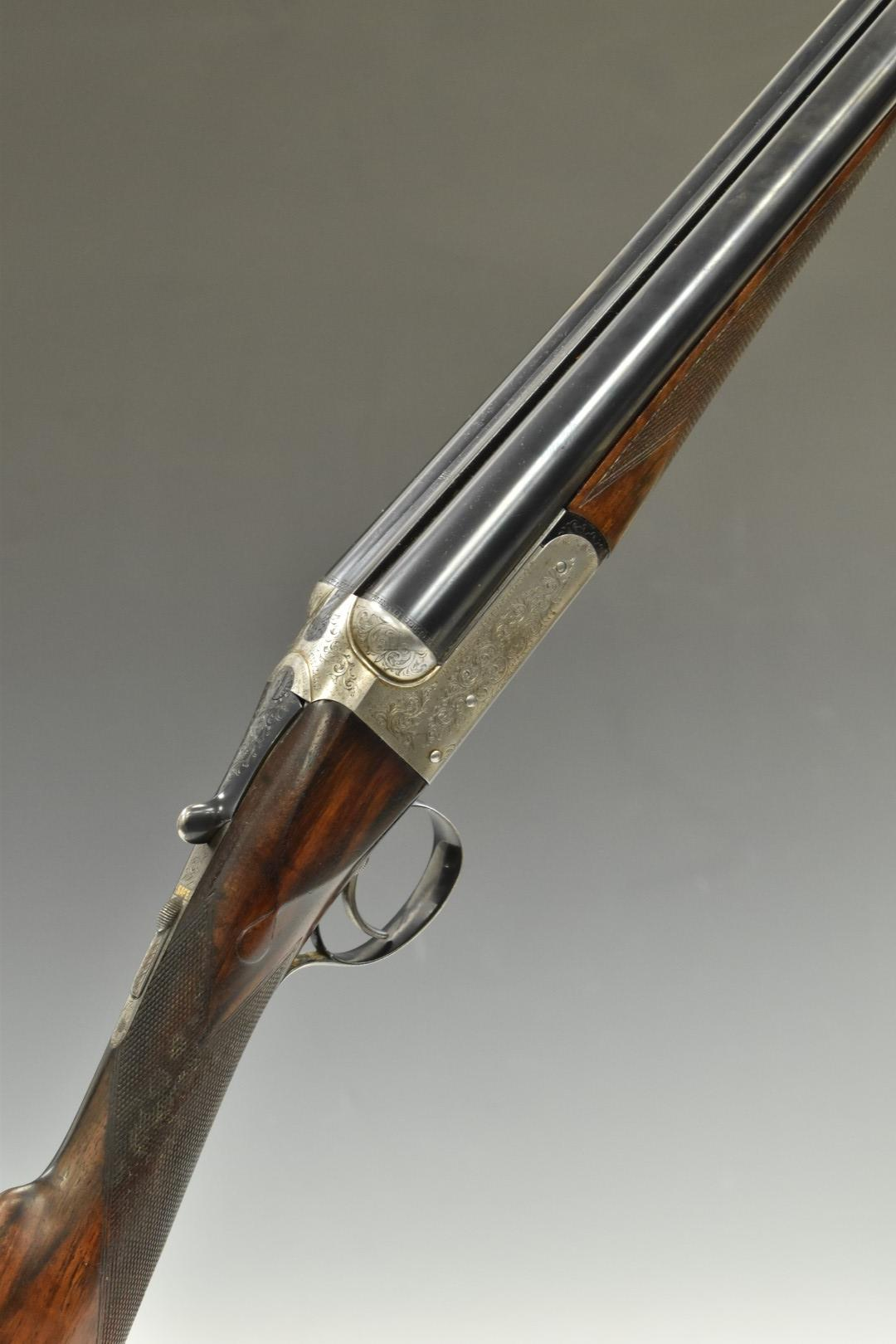 Westley Richards & Co 'The Heronshaw' 12 bore side by side ejector shotgun with named and engraved