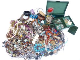A collection of jewellery including silver bracelet, bangles, etc