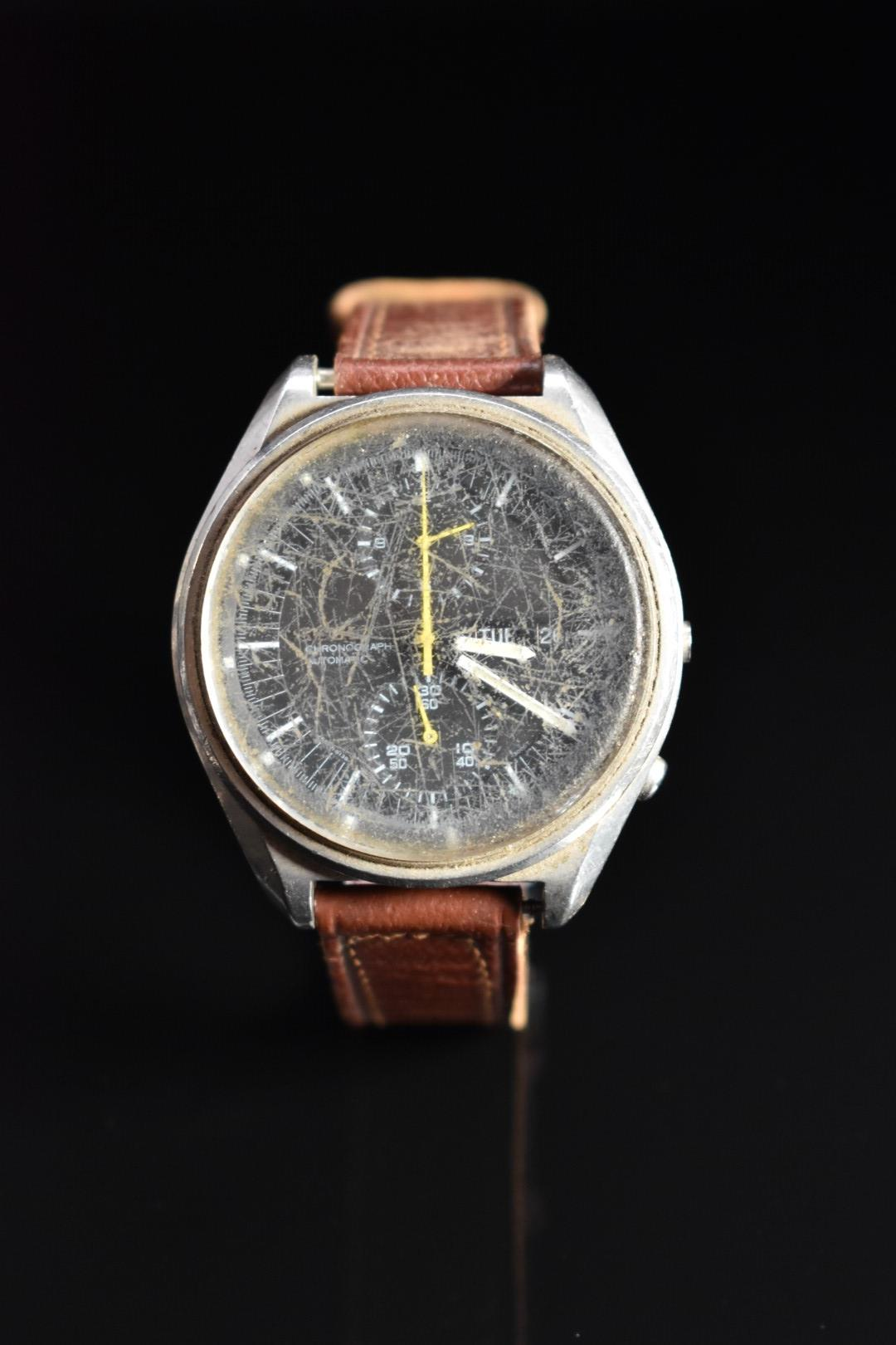 Seiko gentleman's automatic chronograph wristwatch ref. 6138-3002 with day and date apertures,
