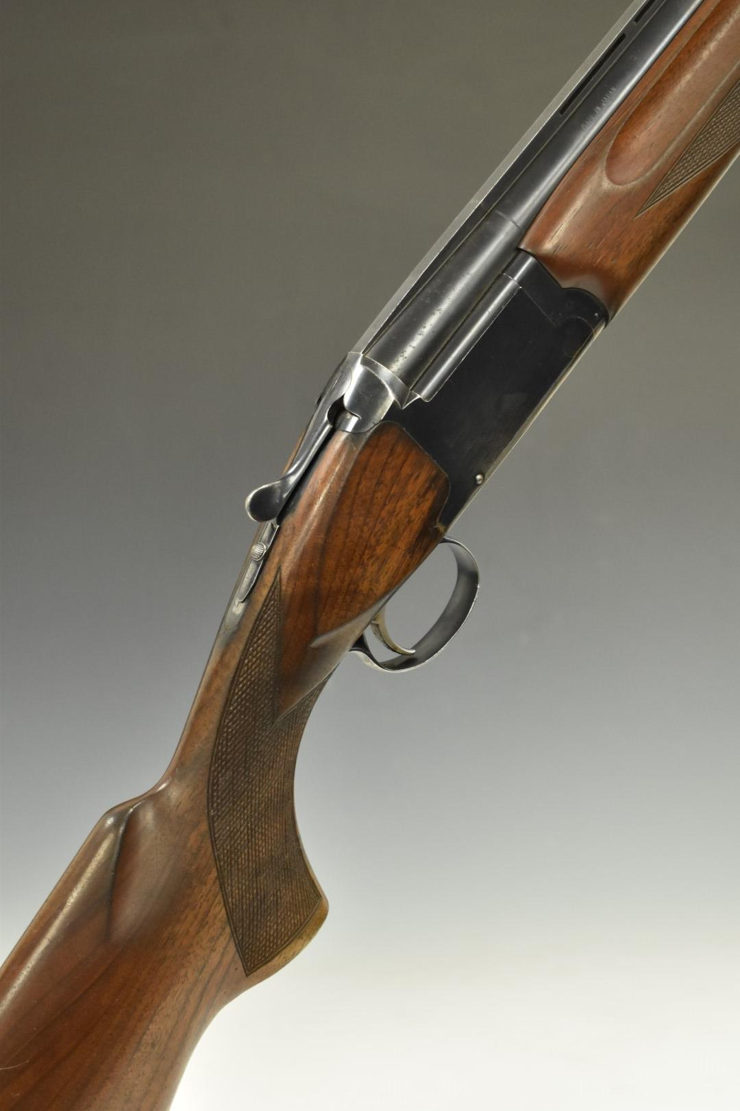 Winchester Special X 12 bore over and under shotgun with chequered semi-pistol grip and forend,