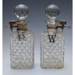 Two Betjemann's patent tantaluses, one London 1922, maker Mappin & Webb the other London 1929